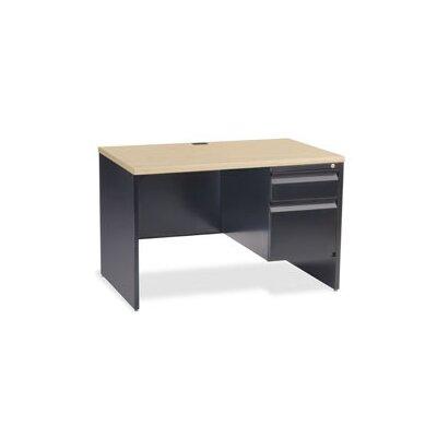 Virco Right Side Single Pedestal Computer Desk