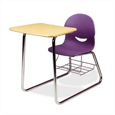 """Virco I.Q. Series 32"""" Laminate Combo Chair Desk with Wire Bookrack"""