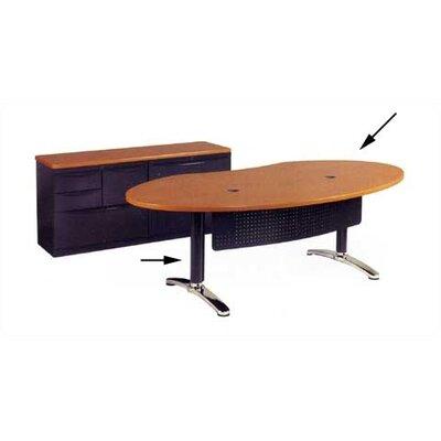 Virco Plateau Series Ellipse Desk Shell with Bi-Point Legs