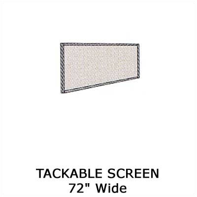 Virco Plateau Series Tackable Screen Wall Mounted Whiteboard, 6'