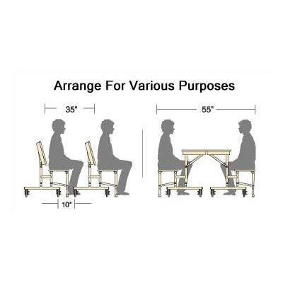 Virco Mobile Convertible Bench Table