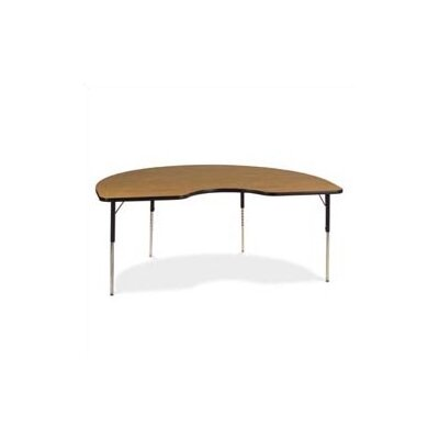 "Virco 4000 Series 72"" x 48"" Kidney Classroom Table"