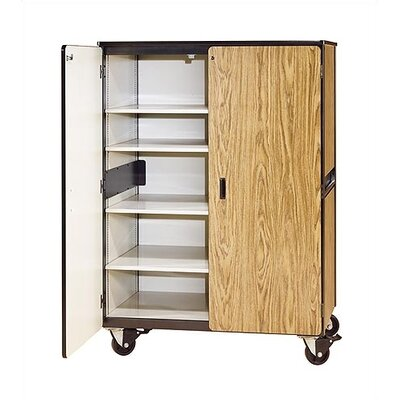 Virco 2500 Series Mobile Cabinet with Four Adjustable Shelves