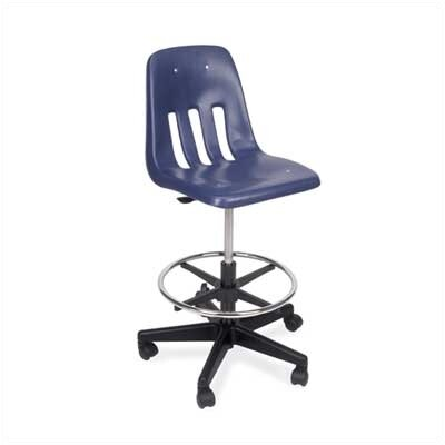 Virco Height Adjustable Lab Stool with Footring