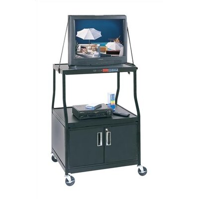 Virco Wide-Body TV Cart with Cabinet