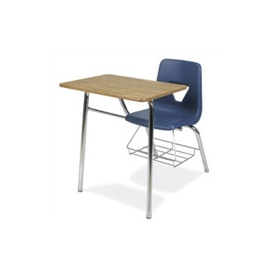 """Virco 2000 Series 31"""" Plastic Combo Chair Desk with Bookrack"""