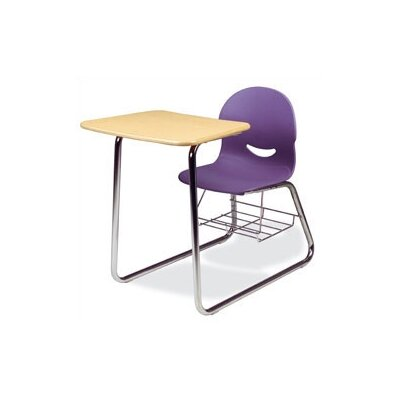 """Virco I.Q. Series 32"""" Plastic Combo Chair Desk with Sled-Base"""