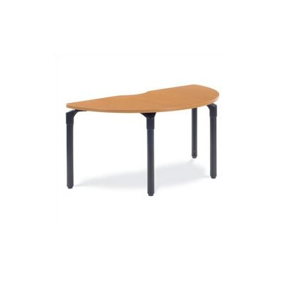 """Virco Plateau Series Half-Round 60"""" W x 30"""" D Training Table with Casters"""