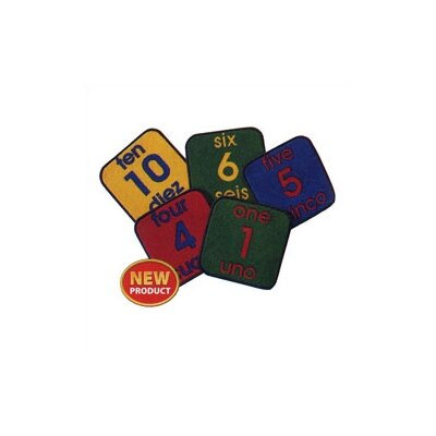 Virco Bilingual Number 1-10 in English and Spanish Area Rug