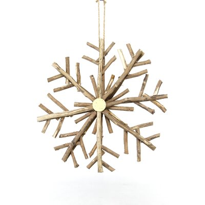 Appalachian Lodge Snowflake Wood Center Ornament by Sage & Co.