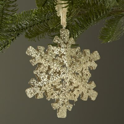 Chateaux Glittered Snowflake Ornament by Sage & Co.