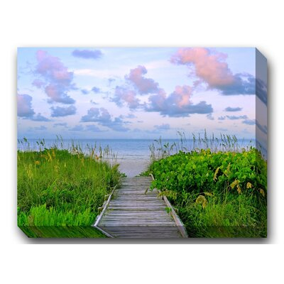 West of the Wind Outdoor Canvas Art Walk Toward Dawn Wrapped Photographic Print on Canvas