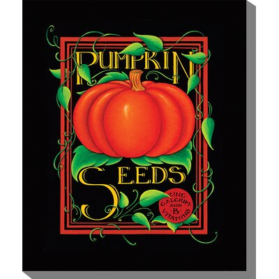 West of the Wind Outdoor Canvas Art Pumpkin Seeds Graphic Art on Wrapped Canvas