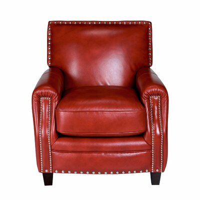 Madrid Leather Press Back Arm Chair by Opulence Home
