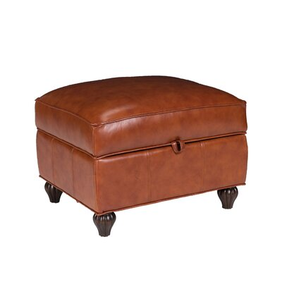 Benjamin Leather Storage Ottoman by Opulence Home
