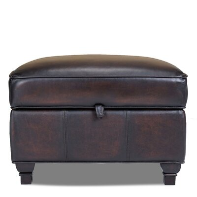Pablo Leather Storage Ottoman by Opulence Home