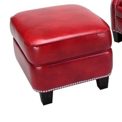 Opulence Home Madrid Leather Storage Ottoman