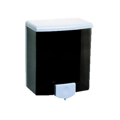 Bobrick Surface-Mounted Soap Dispenser in Black and Gray