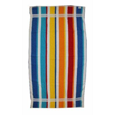 Kaufman Sales Joey Velour Stripe Beach Towel