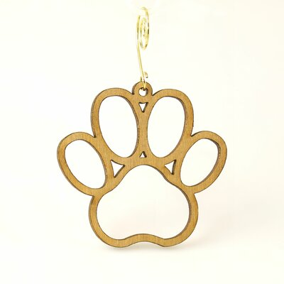 Green Tree Jewelry Dog Paw Ornament