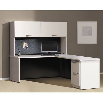 Great Openings Trace L-Shape Computer Desk with Hutch