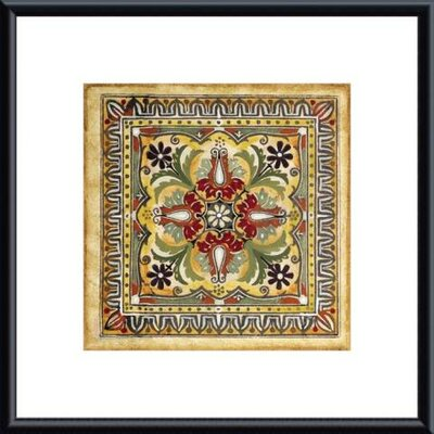 Printfinders 'Italian Tile II' by Ruth Franks Framed Painting Print