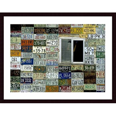 Printfinders 'License Plate Wall' by John K. Nakata Framed Photographic Print