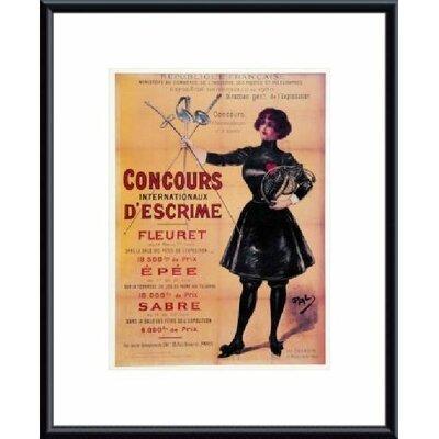 Printfinders Concours Internationaux Descrime Framed Vintage Advertisement