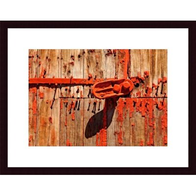 Printfinders Orange Metal and Nail Abstract by John K. Nakata Framed Photographic Print