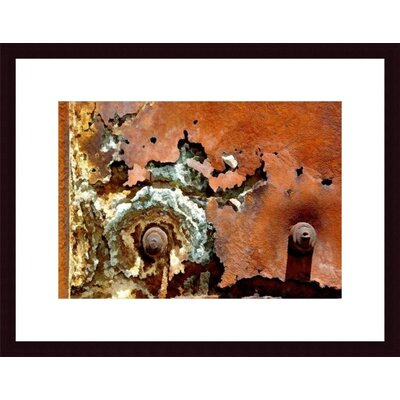 Printfinders Concentric Rust Abstract by John K. Nakata Framed Photographic Print