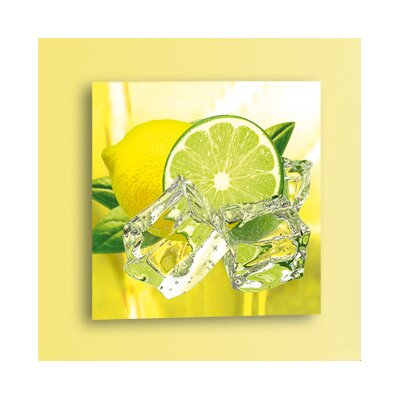 Platin Art Deco Glass Fresh Lemon and Lime Photographic Print