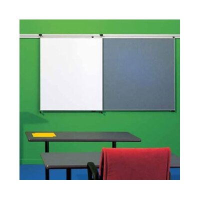 Peter Pepper Tactics Plus® Track Tackable Panel/Writing Wall Mounted Magnetic Whiteboard, 4' x 3'