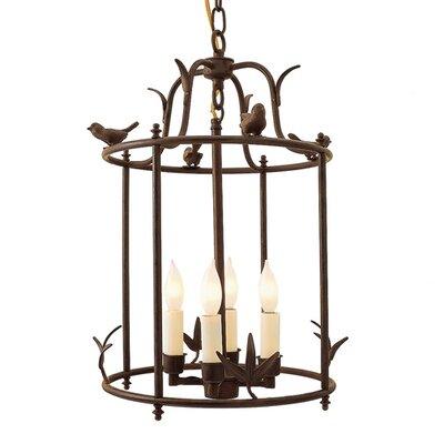 JVI Designs Bird Cage 4 Light Outdoor Hanging Lantern