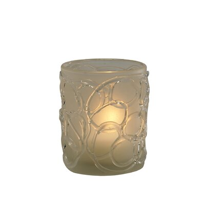 Biedermann and Sons Glass Swirl Votive Candle Holder