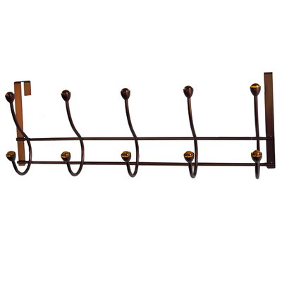 5 Hook Over the Door Coat Rack I by Elegant Home Fashions