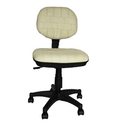 Secretary Cowhide Leather Chair by Elegant Home Fashions