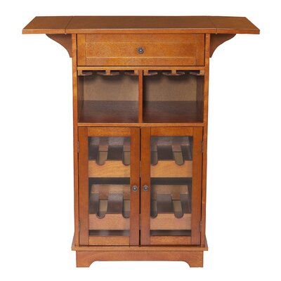 Peoria Multi 8 Bottle Wine Cabinet by Elegant Home Fashions
