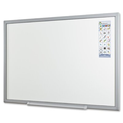 Balt Wall Mounted Interactive Whiteboard, 5' x 6'