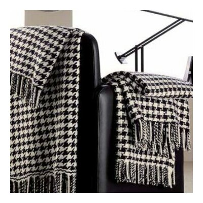 100% Cashmere Houndstooth Throw by Peach Couture