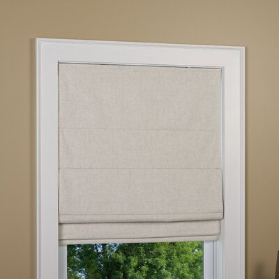 Huntington Linen Cordless Thermal Backed Roman Shade w/ Blackout Fabric Product Photo