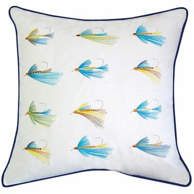 Lake Retreat Flyfish Hooks Outdoor Sunbrella Throw Pillow by Rightside Design