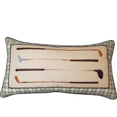 In the Fairway Vintage Golf Irons Throw Pillow by Rightside Design