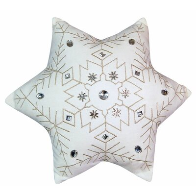Holiday Snowflake Throw Pillow by Rightside Design