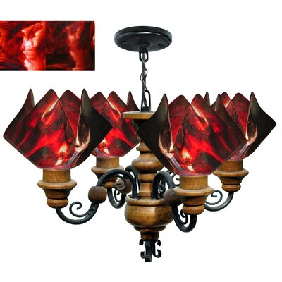Signature 4 Light Flame Vineyard Chandelier by Jezebel Gallery