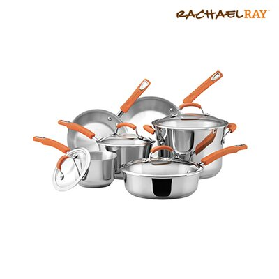 Stainless Steel 10 Piece Cookware Set by Rachael Ray
