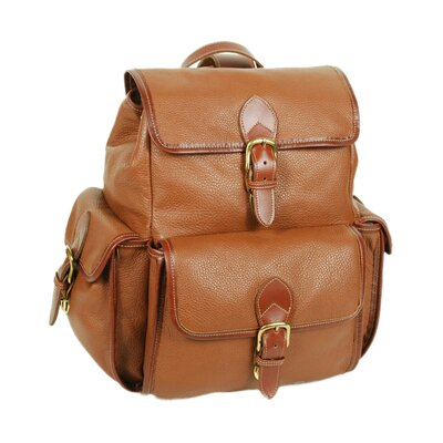 Drawstring Backpack with Front Flap by Aston Leather