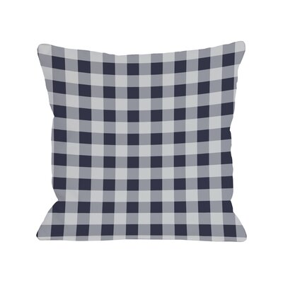 Classic Gingham Throw Throw Pillow by One Bella Casa