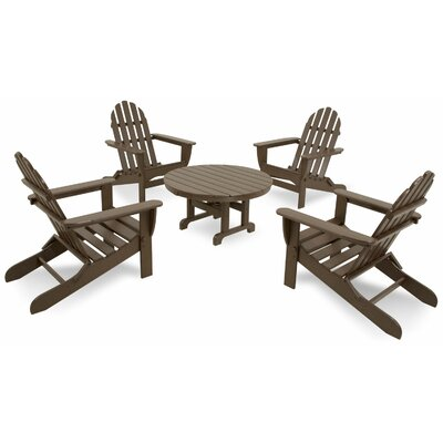 Classics 5 Piece Folding Adirondack Seating Group by Ivy Terrace