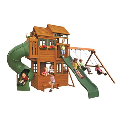 Cedar Summit Shelbyville Deluxe Wooden Swing Set Product Photo