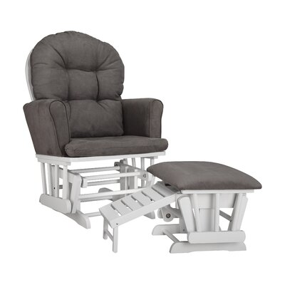Parker Semi Upholstered Nursing Glider & Ottoman by Graco
